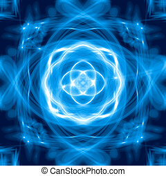 Blue glowing abstract background