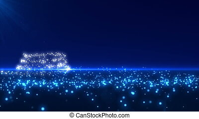 Blue Glowing Christmas Tree
