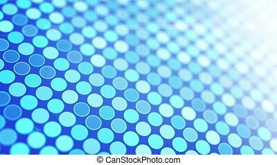 blue glowing circles loop