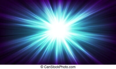 Blue glowing shiny beams abstract video animation