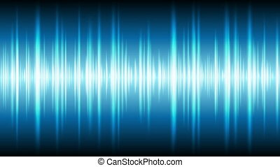 Blue glowing tech waveform equalizer video animation....