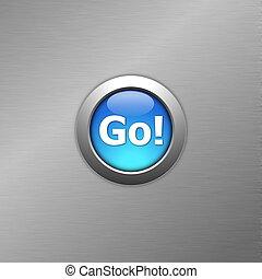 blue go button