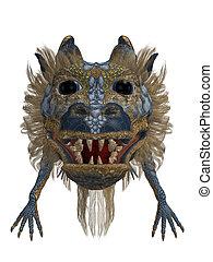 Dragon Head - Blue Gold Dragon Head