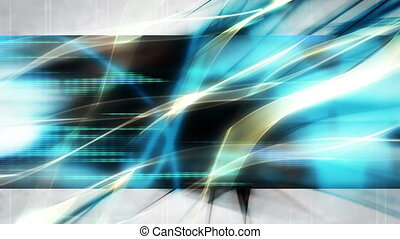 Blue Gold Flowing High tech Loop