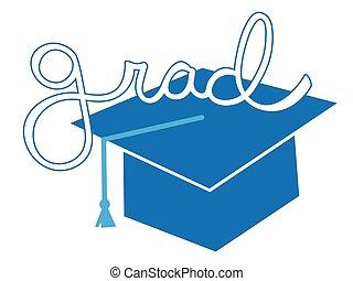 Blue Grad Cap