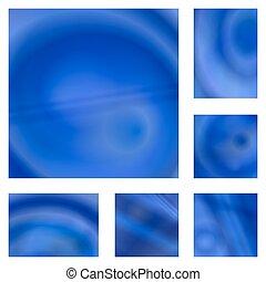 Blue gradient abstract background design set