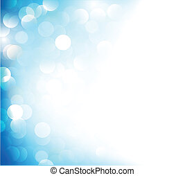 Blue gradient background with spotlights