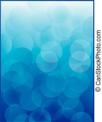 Blue Gradient Circle Lights Background for Poster