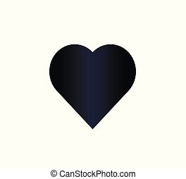 Blue gradient heart icon isolated
