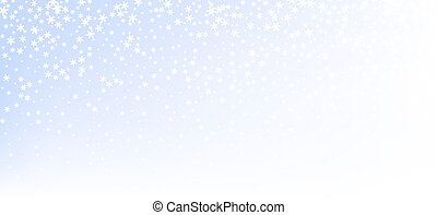 Blue gradient winter background with snow pattern.