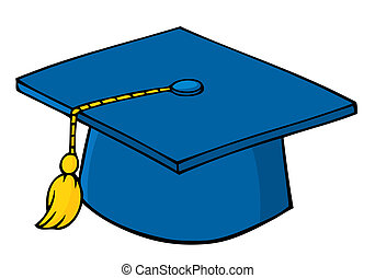 Blue Graduation Cap And Tassel