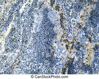 Blue granite background - Closeup of a granite stone slab, ...