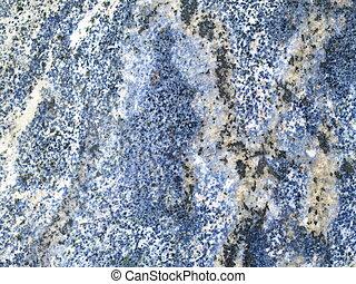 Blue granite background - Closeup of a granite stone slab,...