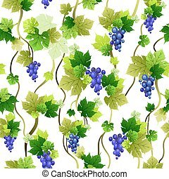 Blue grapes pattern