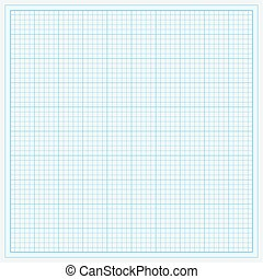 Blue graph paper - vector illustration. eps 8