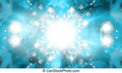 Blue gray cosmic VJ loop abstraction animated background -...