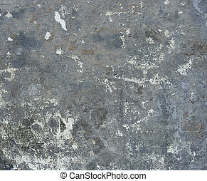 blue gray dirty wall with leftover paint