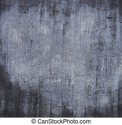 blue gray dirty worn stone cut wall with white marks