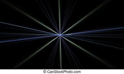 Blue Gray Star Shining on Black