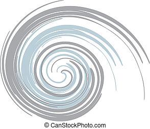Blue Gray Swirl  - blue and gray swirl background