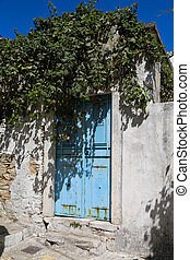 Blue Greek Door
