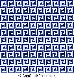 Blue greek seamless pattern