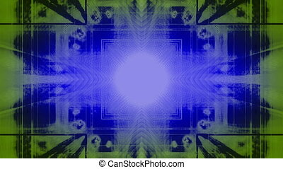 Blue Green Abstract 665HNY Loop