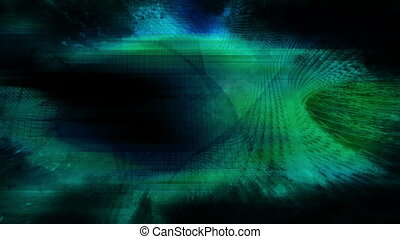 Blue green and black wire frame VJ looping animated CG background