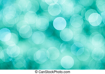 Blue, green and turquoise  background with bokeh