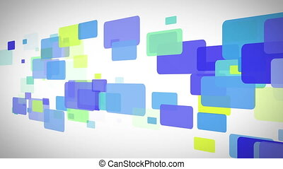 Blue green and yellow rectangles mo