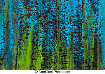 blue, green and black watercolor paper texture with veritcal brush strokes