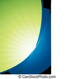 Blue green business template