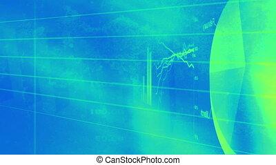 Blue Green Charts Graph Loop