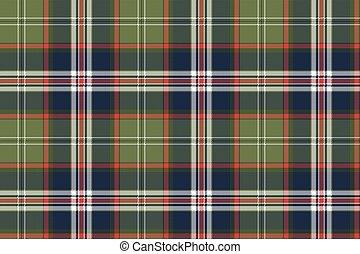 Blue green check plaid seamless pattern