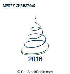Blue- green Christmas tree