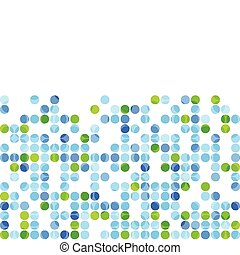 Blue green circles on white background