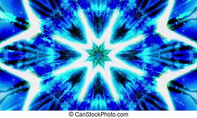 Blue Green Cosmic VJ Loop