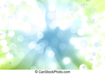 Blue green explosion