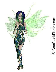 Blue Green Flower Fairy