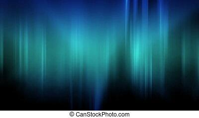 Blue Green Flowing Light Streak