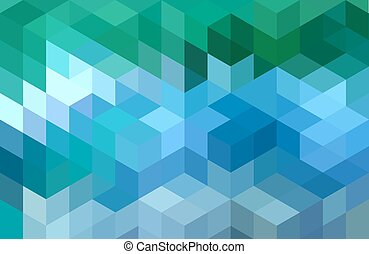 blue green geometric background