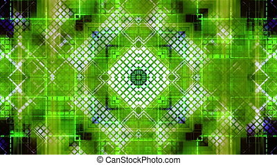 Blue green geometric grid squared looping animated CG backdrop