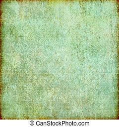 Blue-Green Grunge Background Texture - A dirty grunge...