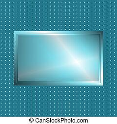 Blue green metallic sign