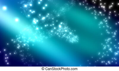Blue Green Particle Cosmic Loop