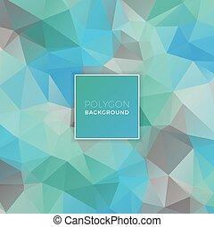 Blue Green Polygon Background