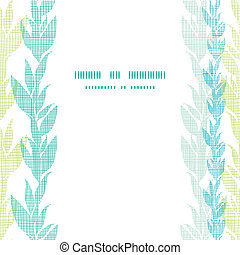 Blue green seaweed vines center frame seamless pattern background