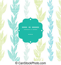 Blue green seaweed vines frame seamless pattern background