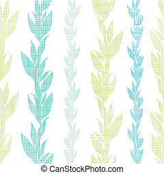 Blue green seaweed vines seamless pattern background