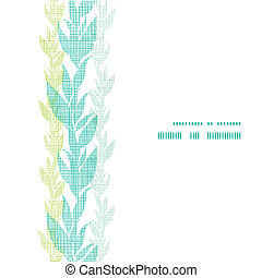 Blue green seaweed vines vertical frame seamless pattern background